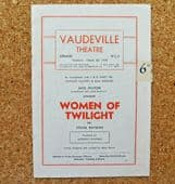 Women of Twilight theatre programme 1951 play by Sylvia Rayman Unmarried mothers